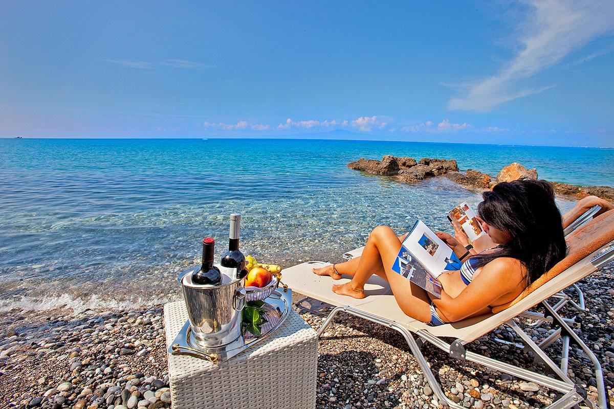 Ιδιωτική Παραλία - Akti Taygetos - Conference Resort